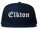Elkton Maryland MD Old English Mens Snapback Hat Navy Blue