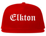 Elkton Maryland MD Old English Mens Snapback Hat Red
