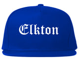 Elkton Maryland MD Old English Mens Snapback Hat Royal Blue