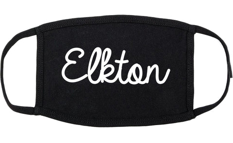 Elkton Maryland MD Script Cotton Face Mask Black
