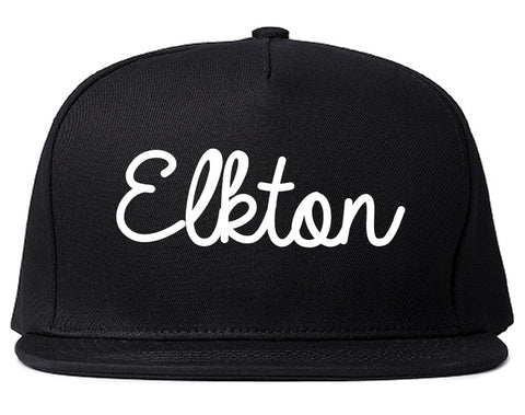 Elkton Maryland MD Script Mens Snapback Hat Black