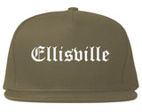 Ellisville Mississippi MS Old English Mens Snapback Hat Grey