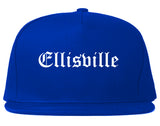 Ellisville Mississippi MS Old English Mens Snapback Hat Royal Blue