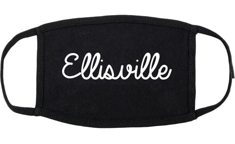 Ellisville Missouri MO Script Cotton Face Mask Black