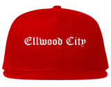 Ellwood City Pennsylvania PA Old English Mens Snapback Hat Red
