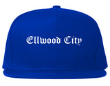 Ellwood City Pennsylvania PA Old English Mens Snapback Hat Royal Blue