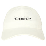 Ellwood City Pennsylvania PA Old English Mens Dad Hat Baseball Cap White
