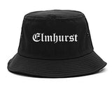 Elmhurst Illinois IL Old English Mens Bucket Hat Black