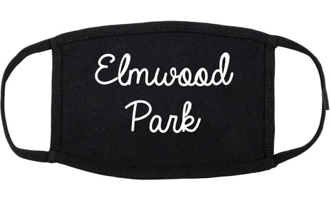 Elmwood Park New Jersey NJ Script Cotton Face Mask Black