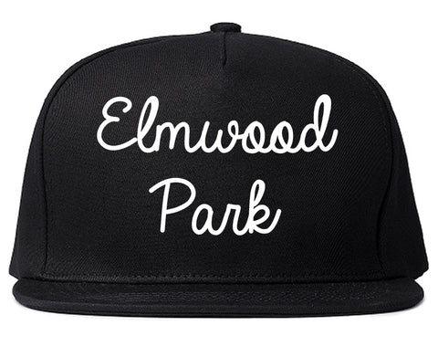 Elmwood Park New Jersey NJ Script Mens Snapback Hat Black