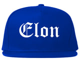 Elon North Carolina NC Old English Mens Snapback Hat Royal Blue