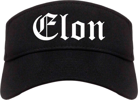 Elon North Carolina NC Old English Mens Visor Cap Hat Black