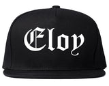 Eloy Arizona AZ Old English Mens Snapback Hat Black