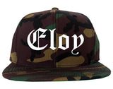 Eloy Arizona AZ Old English Mens Snapback Hat Army Camo