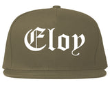 Eloy Arizona AZ Old English Mens Snapback Hat Grey