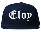 Eloy Arizona AZ Old English Mens Snapback Hat Navy Blue
