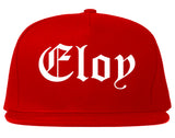 Eloy Arizona AZ Old English Mens Snapback Hat Red