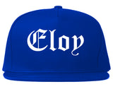 Eloy Arizona AZ Old English Mens Snapback Hat Royal Blue