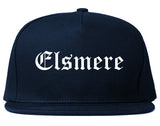 Elsmere Kentucky KY Old English Mens Snapback Hat Navy Blue