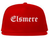 Elsmere Kentucky KY Old English Mens Snapback Hat Red