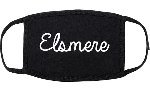 Elsmere Kentucky KY Script Cotton Face Mask Black