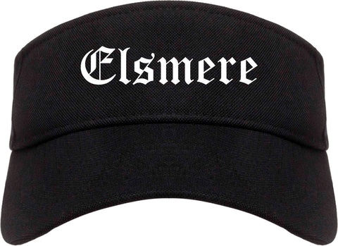 Elsmere Kentucky KY Old English Mens Visor Cap Hat Black