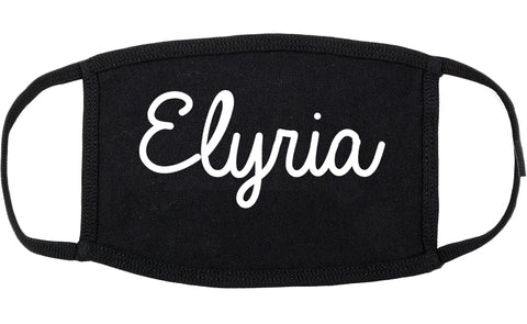 Elyria Ohio OH Script Cotton Face Mask Black