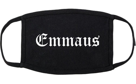 Emmaus Pennsylvania PA Old English Cotton Face Mask Black