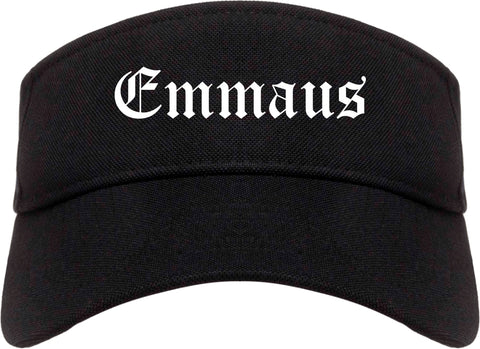 Emmaus Pennsylvania PA Old English Mens Visor Cap Hat Black