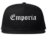 Emporia Kansas KS Old English Mens Snapback Hat Black