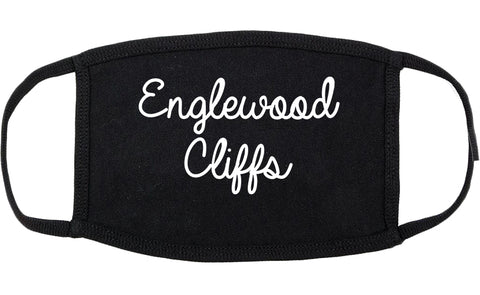 Englewood Cliffs New Jersey NJ Script Cotton Face Mask Black