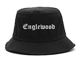 Englewood New Jersey NJ Old English Mens Bucket Hat Black