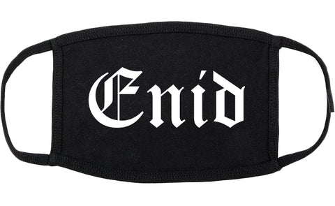 Enid Oklahoma OK Old English Cotton Face Mask Black