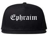 Ephraim Utah UT Old English Mens Snapback Hat Black