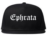 Ephrata Washington WA Old English Mens Snapback Hat Black