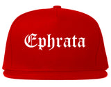 Ephrata Washington WA Old English Mens Snapback Hat Red