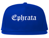 Ephrata Washington WA Old English Mens Snapback Hat Royal Blue
