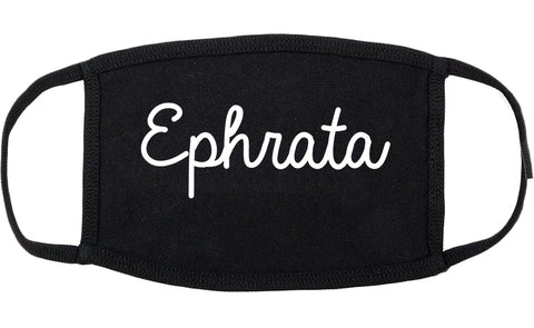 Ephrata Washington WA Script Cotton Face Mask Black