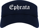 Ephrata Washington WA Old English Mens Visor Cap Hat Navy Blue