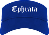 Ephrata Washington WA Old English Mens Visor Cap Hat Royal Blue