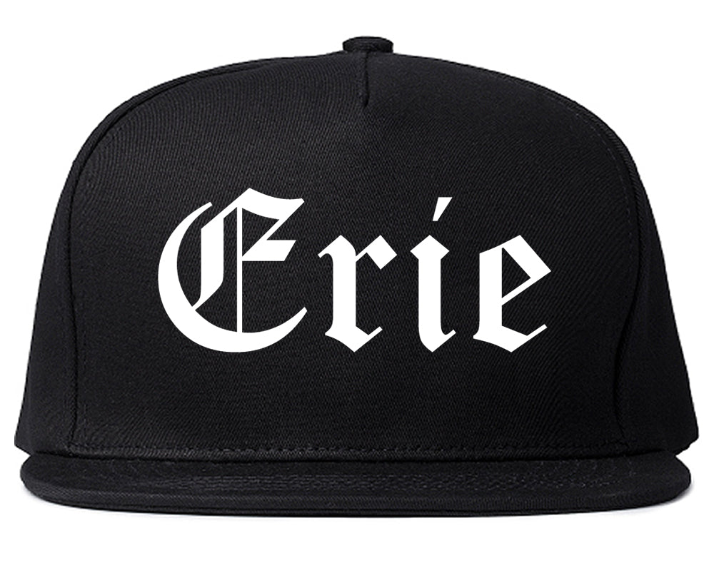 Erie Colorado CO Old English Mens Snapback Hat Black