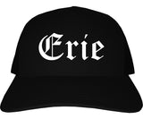 Erie Pennsylvania PA Old English Mens Trucker Hat Cap Black