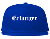 Erlanger Kentucky KY Old English Mens Snapback Hat Royal Blue