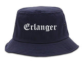 Erlanger Kentucky KY Old English Mens Bucket Hat Navy Blue