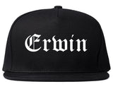 Erwin Tennessee TN Old English Mens Snapback Hat Black