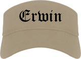 Erwin Tennessee TN Old English Mens Visor Cap Hat Khaki