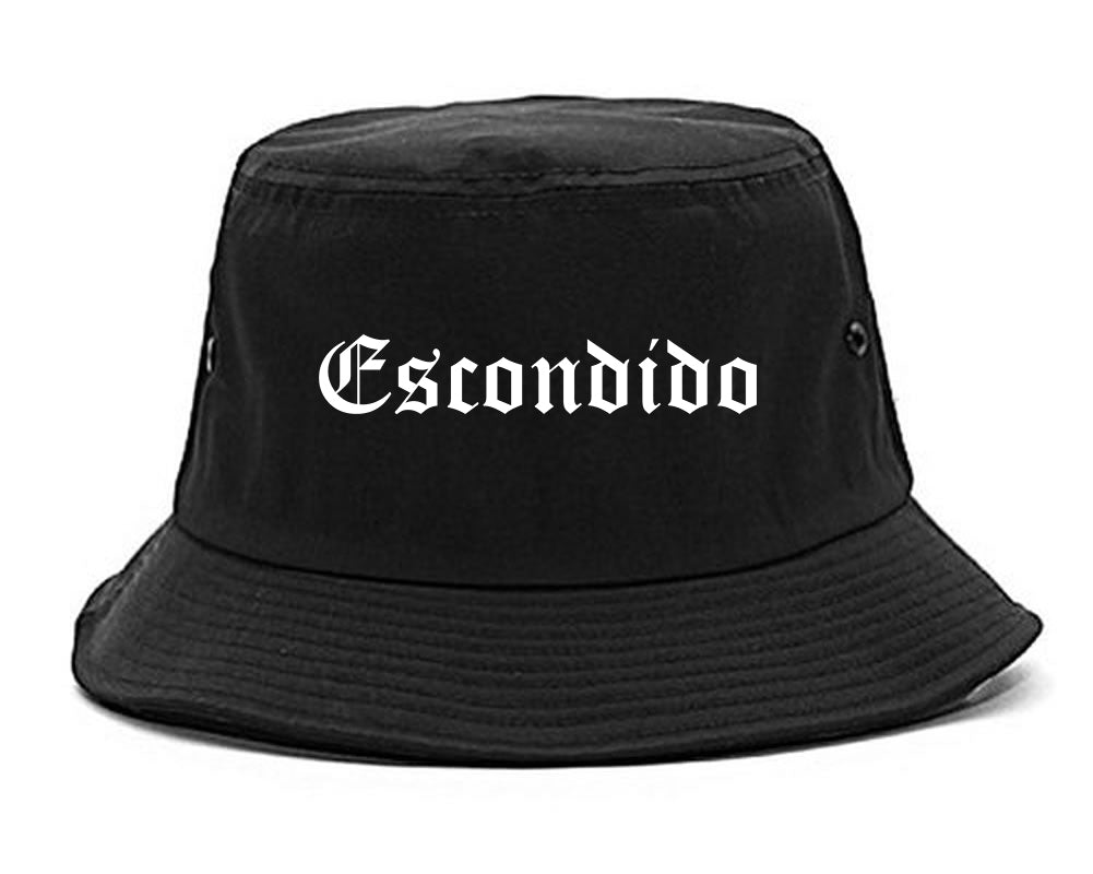 Escondido California CA Old English Mens Bucket Hat Black