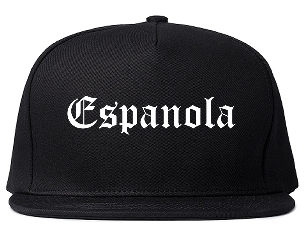 Espanola New Mexico NM Old English Mens Snapback Hat Black