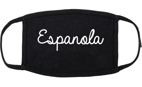 Espanola New Mexico NM Script Cotton Face Mask Black