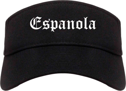 Espanola New Mexico NM Old English Mens Visor Cap Hat Black
